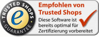 Webshop Software empfohlen von Trusted Shops